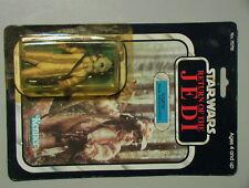 Star Wars VINTAGE 1983 Logray 100% Mint Comp on Seal Punch Card Kenner C-6 ROTJ!