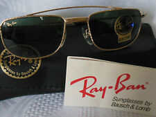 NEW OLD STOCK RAY BAN B&L SUNGLASSES GOLD FRAME AVIATORS W1756 50mm G-15 LENS