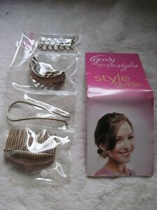 Goody Simple Styles Spin Pins Modern Updo Pony Pouf Volume Comb Blonde Brunette