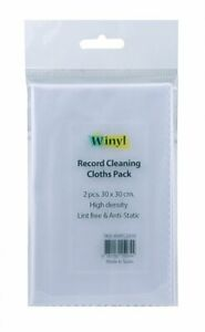 Winyl Cleaning Cloths Record 11 13/16x11 13/16in Antistatic 2 Piece