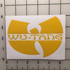 "Wu Tang Street Wear 5"" Wide Yellow Vinyl Decal Sticker Set - BOGO"