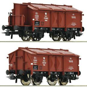 Roco H0 76043 Klappdeckelwagen-Set Gattung K 15 der PKP - NEU + OVP