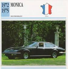 1972-1975 MONICA Classic Car Photo/Info Maxi Card