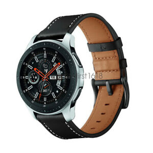 Genuine Leather Wristband Watch Band Strap For Samsung Galaxy Watch 46mm 42mm