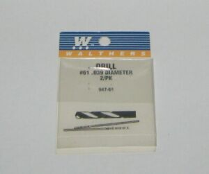 Walthers  947- 61 - # 61 .039 DIAMETER DRILL 2 / PK