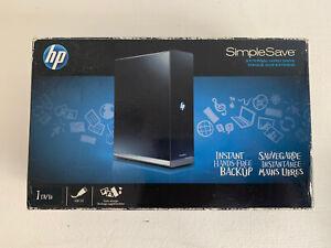 New HP SimpleSave 1TB External USB 2.0 Hard Drive Hewlett-Packard Instant Backup