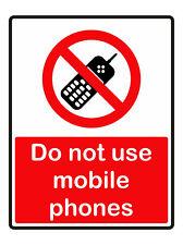 Non usare cellulari AUTOADESIVO ADESIVI SAFETY SEGNI BUSINESS