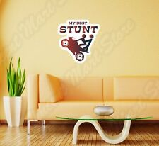 "Best Stunt Bike Racing Sex Adult Girl Wall Sticker Room Interior Decor 22""X22"""