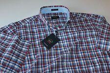 Paul & Shark Plaid Shirt Short Sleeve Style # E17P3195 Size 40 Medium M