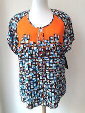 Sempre piu by Chalou Damen kurz Arm Viskose Bluse exclusiv Gr. 50 große Größen