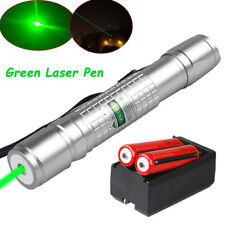 Tactical 990Miles 532nm Green Laser Pointer Pen Visible Beam Light+18650+Charger