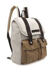 $2875 Brunello Cucinelli Country Backpack With Pockets Canvas New