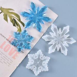 Crystal Epoxy Resin Mold Christmas Ornaments Snowflake Pendant Silicone Mould