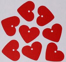 24 Herzen rot, Anhänger Zahlen für Adventskalender 3,5cm Weihnachtskalender