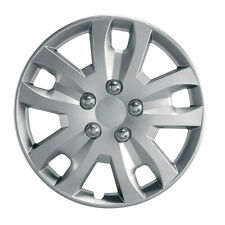 "Gyro 14"" Car Wheel Trim - SINGLE TRIM - Plastic Cover Silver - Universal"