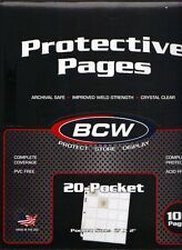 10 pages*20-POCKETS COIN COLLECTORS PAGES+140 ASSORTED 2X2 MYLAR COIN FLIPS*N24*