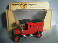 MATCHBOX MODELS OF YESTERYEAR Y-12 1912 FORD MODEL T ROYAL MAIL