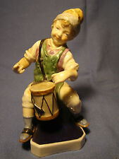 "Royal Vienna Porcelain Figurine Drummer Boy 5 1/4""h China Musician Figure 19th c"