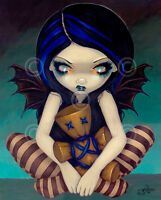 FAIRY ART PRINT - Voodoo In Blue by Jasmine Becket-Griffith 20x16 Gothic Poster