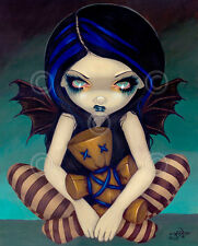 FAIRY ART PRINT - Voodoo In Blue by Jasmine Becket-Griffith 14x11 Gothic Poster