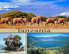 Africa - TANZANIA Collage - Travel Souvenir Flexible Fridge Magnet