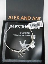 Alex and Ani Star Fish Charm Bangle Rafaelian Silver Finish Bracelet NWTBox/Card