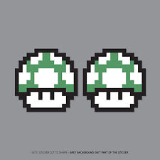 SKU2374 - 2 X Super Mario Bros 1UP Pegatinas Insignias-JDM VW DUB Mini