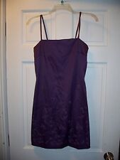 Byer Too Size 7 Purple Cocktail Formal Dress Spagetti Strap Light Sparkle