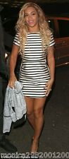 TOPSHOP SATIN STRIPE PARTY DRESS SIZE UK12/EUR40/US8 CELEBRITY!