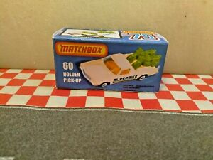 Matchbox Lesney Superfast Holden,60  Ute Pick-up Utility EMPTY Repro Box ONLY,