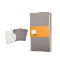 Moleskine Taccuino XL set 3 Cahiers ruled journals grey 19x25 cm fogli a righe