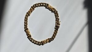 Custom One-of-a-kind14k Gold Men's Bracelet, Pre-Owned But Perfect Condition