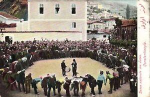 PC CPA TURKEY, CONSTANTINOPLE, NATIONAL LAZES DANCE, VINTAGE POSTCARD (b3614)