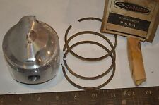 Vintage Kiekhafer Mercury piston with 3 rings - 741-2700