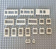 Lego Vintage Alte Fenster Und Tür Weiß 17 St City Creator Eisenbahn Window (11)