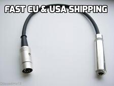 """REAN 5 3 PIN DIN TRS JACK 1/4"""" Cable Adapter Soviet German Guitar Synth Dynacord"""