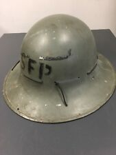 British Zuckerman WW2 Steel Helmet  Street Fire Party, Civil Defence