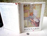 PIERRE BONNARD; WORKS,1948,John Rewald,Illust,DJ