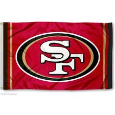 SAN FRANCISCO 49ERS (RED) FLAG 3'X5' NFL LOGO BANNER: FREE SHIPPING