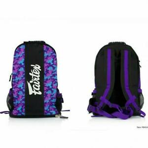 Fairtex Rucksack Purple Camo Gym Bag Muay Thai Sports