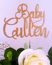 Personalised Custom Cake Topper Baby Shower Gender Reveal Boy or Girl 350gsm