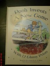 Very Good, Pooh Invents A New Game with 12 Glossy Prints, A.A Milne, Hardcover