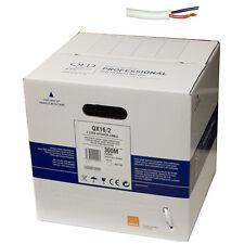 QED QX16/2 2core PVC Flame Retardant speaker cable 100m drum WHITE