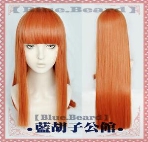 Pretty Derby Silence Suzuka Cosplay Wig Unisex Orange red Long Hair Harajuku