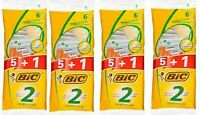 24 PACK Bic 2 Mens Razor TWIN 2 Blade Sensitive Disposable Hair Removal Shaver