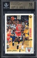 BGS 10 MICHAEL JORDAN 1991-92 Upper Deck Italian #38 Chicago Bulls HOF PRISTINE
