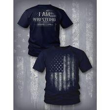 NEW Kurt Angle USA I am Wrestling T-Shirt Men's XL EXTRA LARGE WWE ROH TNA NXT