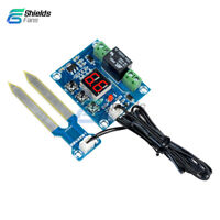DC 12V Soil Moisture Sensor Humidity Automatically Watering Relay LED Controller