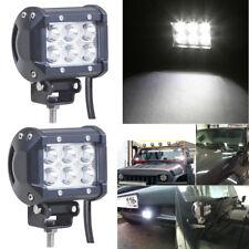 2Pcs 18W LED Flood Work Light Bar ATV Truck Adjustable Bracket Driving Headlight