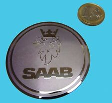 SAAB METALLIC CHROME EFFECT STICKER LOGO AUFKLEBER 60mm [830]